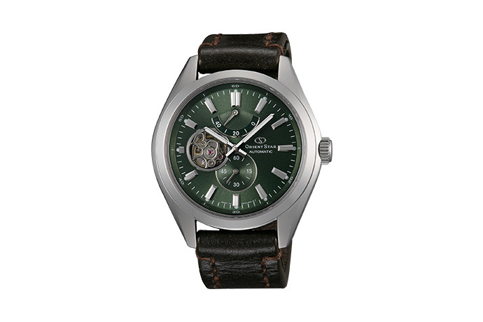 ORIENT STAR: Mechanical Contemporary Watch, Leather Strap - 44.0mm (DK02002F)
