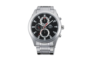 Orient: Cuarzo Sports Reloj, Metal Correa - 41.0mm (UY07001B)