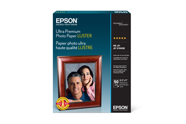 "Ultra Premium Photo Paper Luster, 8.5"" x 11"", 50 sheets"