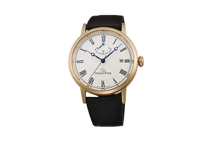 ORIENT STAR: Mechanical Classic Watch, Leather Strap - 38.7mm (EL09002W)