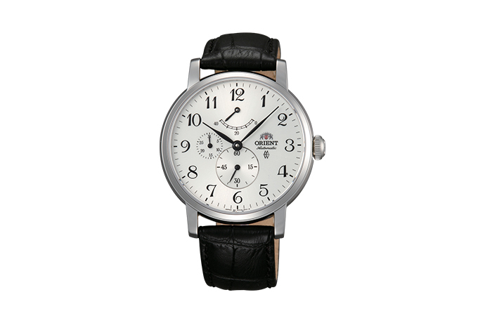 ORIENT: Mechanical Classic Watch, Leather Strap - 41.0mm (EZ09005W)
