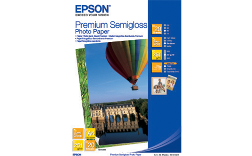 Epson Premium Semigloss Photo Paper (250) - A3+ 20 Sheets