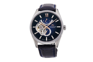 ORIENT STAR: Mechanical Contemporary Watch, Leather Strap - 41.0mm (RE-HJ0005L)