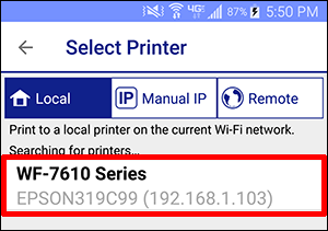 Setting Up the Epson iPrint App for Android | Epson US