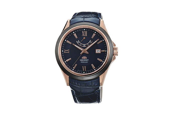 ORIENT: Mechanical Sports Watch, Leather Strap - 42.0mm (AF03001D)