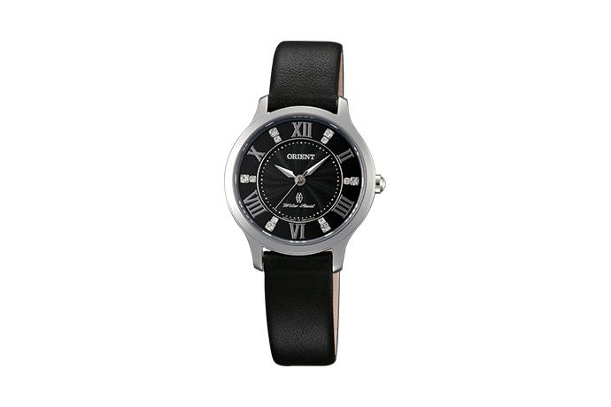 Orient: Cuarzo Contemporary Reloj, Cuero Correa - 30.5mm (UB9B004B)