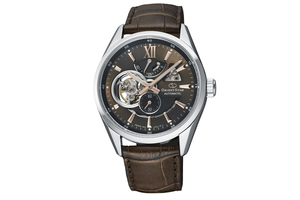 ORIENT STAR: Mechanical Contemporary Watch, Leather Strap - 41.0mm (RE-AV0006Y)