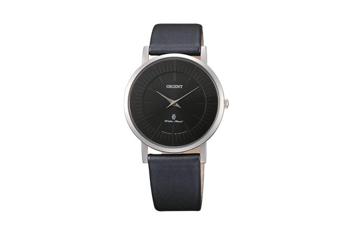Orient: Cuarzo Contemporary Reloj, Cuero Correa - 35.0mm (UA07006B)