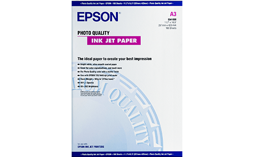 Epson Photo Quality Ink Jet Paper - A3+ 100 Sheets