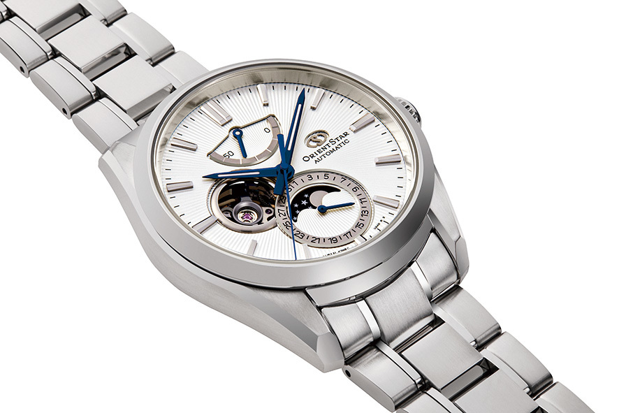 ORIENT STAR: Mecánico Contemporary Reloj, Metal Correa - 41.0mm (RE-AY0002S)