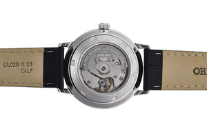 ORIENT: Mechanical Contemporary Watch, Leather Strap - 39.5mm (RA-AA0A06S)