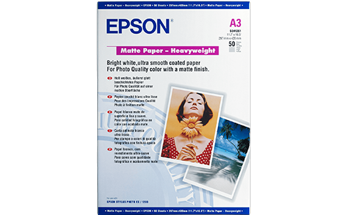 Epson Matte Paper  - Heavyweight - A3 50 Sheets