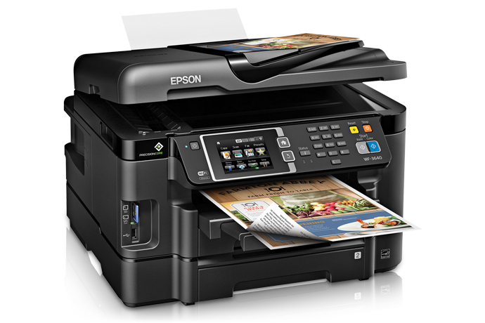 Phenomenal Epson Workforce Wf 3640 All In One Printer Inkjet Beutiful Home Inspiration Papxelindsey Bellcom