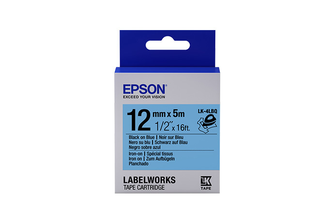 LabelWorks Iron on (Fabric) LK Tape Cartridge ~1/2