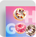 An add for a donut shop printed on posterboard
