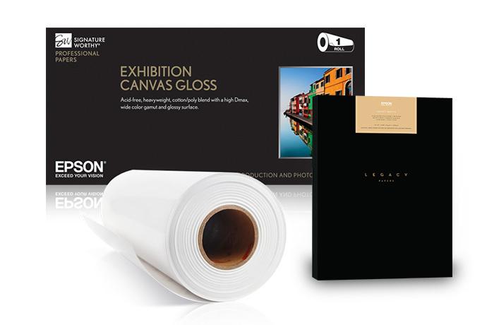 "Exhibition Canvas Natural Matte, 44"" x 40', roll"