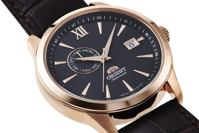 ORIENT: Mechanisch Modern Uhr, Leder Band - 43.5mm (AL00004B)