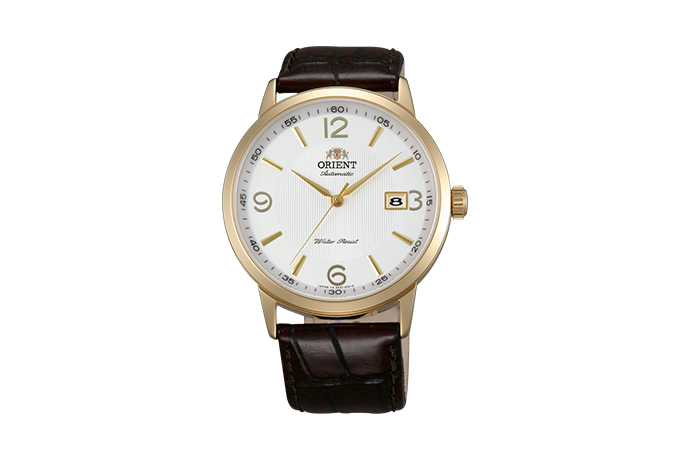 ORIENT: Mechanical Contemporary Watch, Leather Strap - 41.0mm (ER27004W)