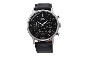 ORIENT: Quartz Classic Watch, Leather Strap - 42.4mm (RA-KV0404B)