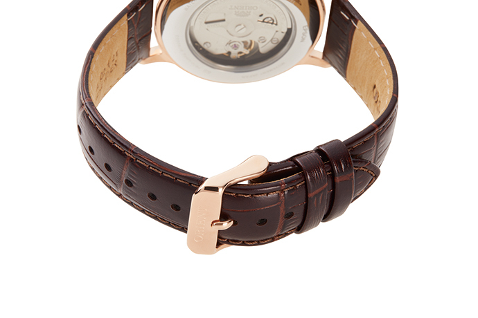 ORIENT: Mechanical Classic Watch, Leather Strap - 40.5mm (RA-AC0001S)