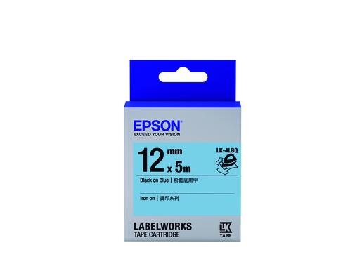 Iron-on 燙印系列LK-4LBQ粉藍底黑字