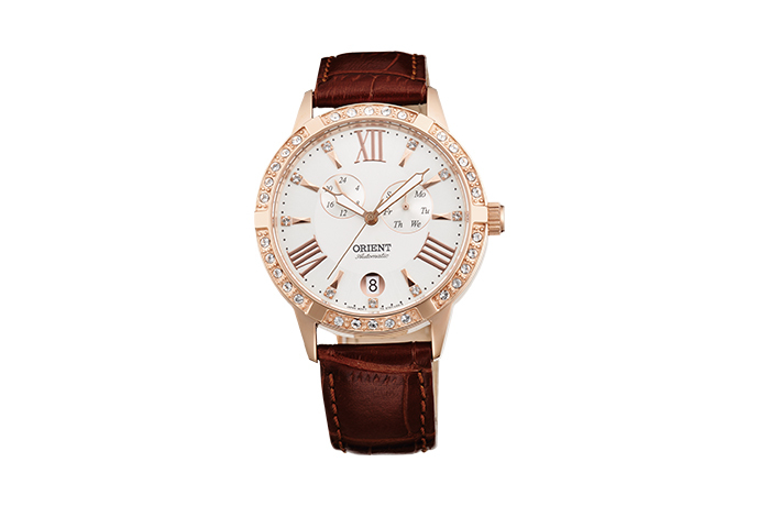 ORIENT: Mechanical Contemporary Watch, Leather Strap - 37.0mm (ET0Y002W)
