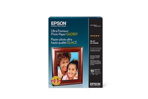"Ultra Premium Photo Paper Glossy, 8.5"" x 11"", 50 sheets"