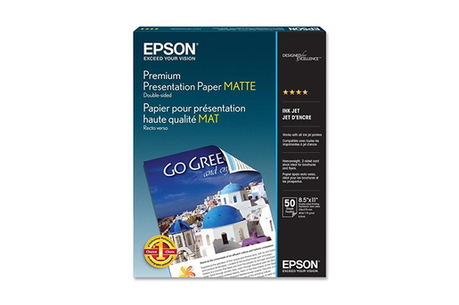 "Premium Presentation Paper Matte, 8.5"" x 11"", 50 sheets"
