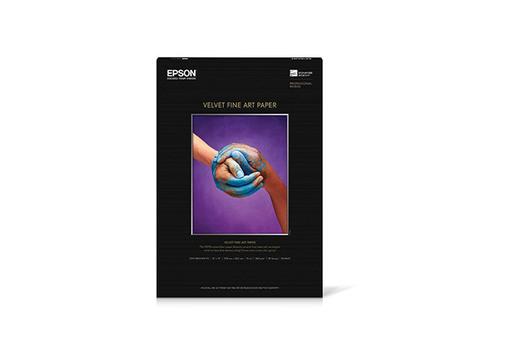 """Epson Velvet Fine Art Paper, 13"""" x 19"""", 20 sheets"""