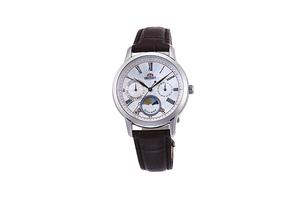 ORIENT: Cuarzo Clásico Reloj, Cuero Correa - 34.8mm (RA-KA0005A)
