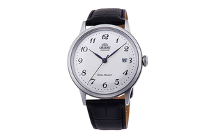 ORIENT: Mechanical Classic Watch, Leather Strap - 40.5mm (RA-AC0003S)