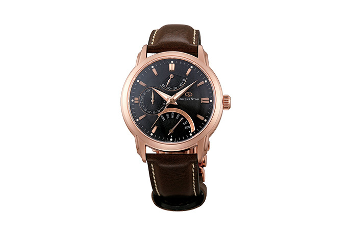ORIENT STAR: Mechanical Contemporary Watch, Leather Strap - 39.5mm (DE00003B)