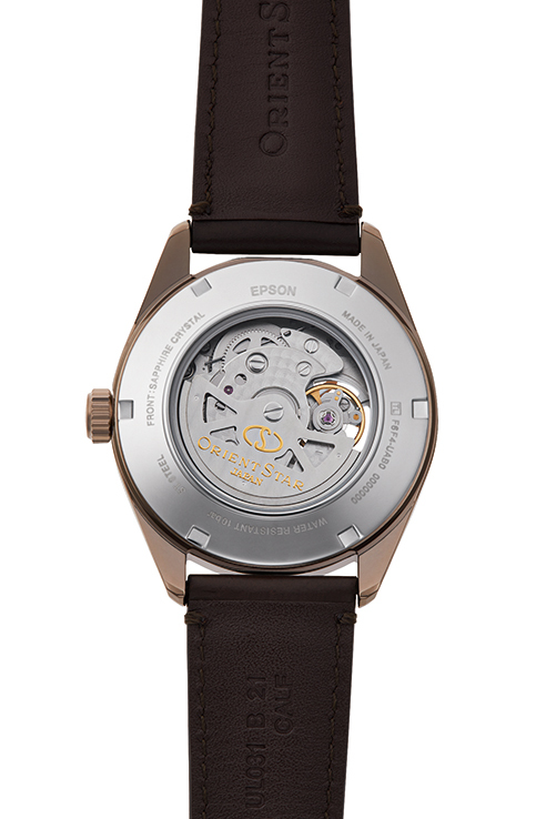ORIENT STAR: Mechanische Modern Uhr, Leder Band - 41.0mm (RE-AV0115S)