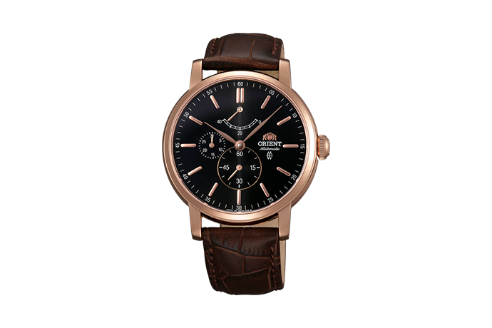 ORIENT: Mechanical Classic Watch, Leather Strap - 41.0mm (EZ09001B)