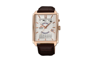 ORIENT: Mechanical Contemporary Watch, Leather Strap - 36.0mm (EUAG001W)