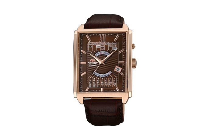 ORIENT: Mechanical Contemporary Watch, Leather Strap - 36.0mm (EUAG001T)