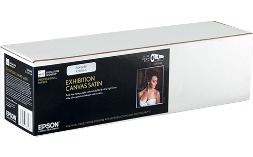 "Epson Exhibition Canvas Satin 17"" x 40' 1 Roll"