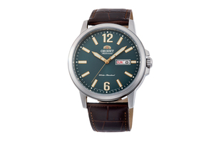 ORIENT: Mechanical Contemporary Watch, Leather Strap - 41.9mm (RA-AA0C06E)