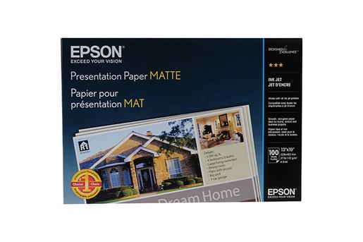 """Epson Presentation Paper Matte, 13"""" x 19"""", 100 hojas"""