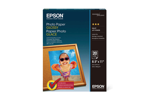 "Photo Paper Glossy, 8.5"" x 11"", 20 hojas"