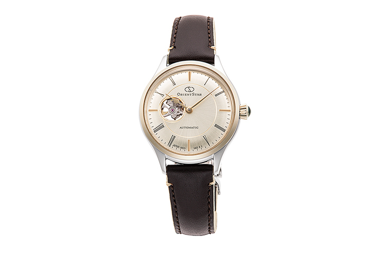 ORIENT STAR: Mechanical Classic Watch, Leather Strap - 30.5mm (RE-ND0010G)