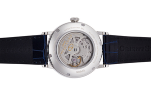ORIENT STAR: Mechanical Classic Watch, Leather Strap - 38.7mm (RE-AU0003L)