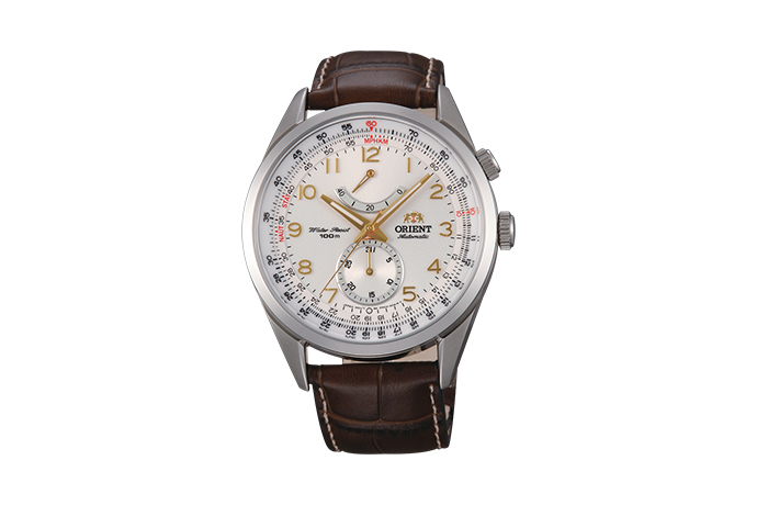 ORIENT: Mechanical Sports Watch, Leather Strap - 43.0mm (FM03005W)