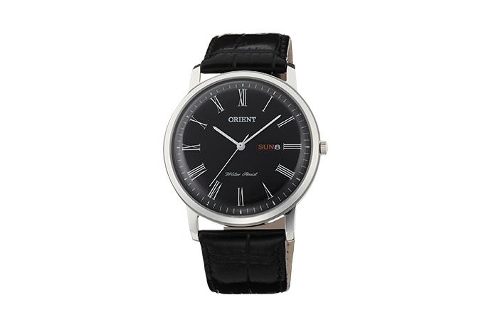 Orient: Cuarzo Clásico Reloj, Cuero Correa - 40.5mm (UG1R008B)