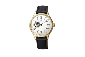 ORIENT STAR: Mechanical Classic Watch, Leather Strap - 30.5mm (RE-ND0004S)