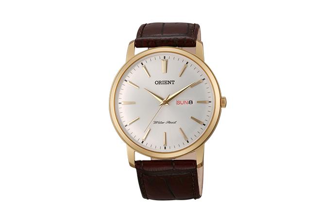 Orient: Cuarzo Clásico Reloj, Cuero Correa - 40.5mm (UG1R001W)