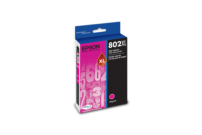 Epson T802XL, Magenta Ink Cartridge, High-capacity