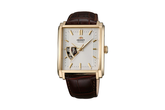 ORIENT: Mechanical Contemporary Watch, Leather Strap - 35.5mm (DBAD003W)