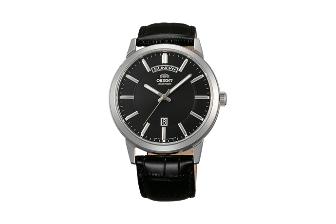 ORIENT: Mechanisch Modern Uhr, Leder Band - 42.0mm (EV0U003B)
