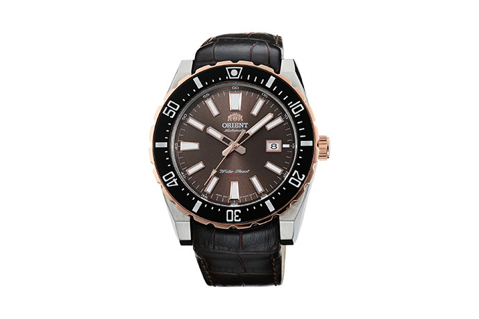 ORIENT: Mechanical Sports Watch, Leather Strap - 46.0mm (AC09002T)